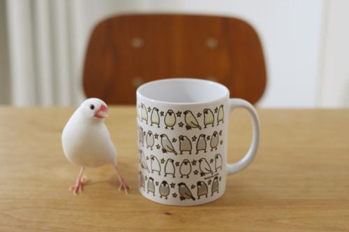 文鳥マグカップ