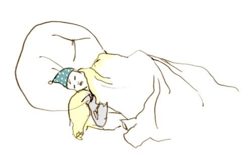 2分クロッキー あきぴょん寝た
